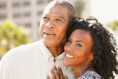 African American Couple smiling together  black  man  woman  smile